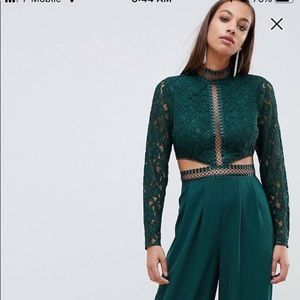 Asos Green Jumpsuit. Size 6